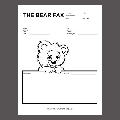 Standard fax cover letter format